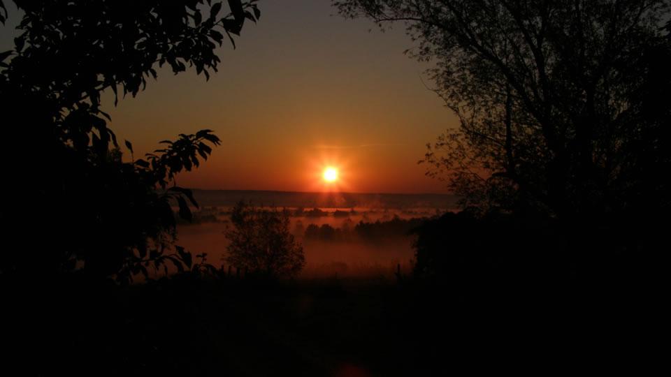 Őrség, naplemente